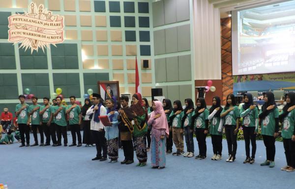 Estafet Pertama Wayang FCTC Tiba di Tangsel, Petualangan 365 Hari FCTC Warrior Dimulai
