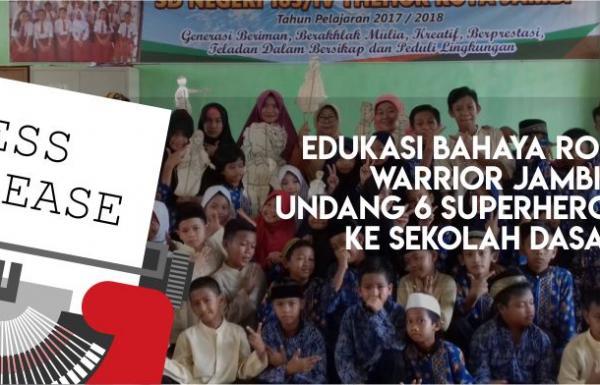 Edukasi Sejak Dini Tentang Bahaya Rokok Warrior Jambi Datangi Sekolah Dasar Untuk Ceritakan 6 Superhero FCTC Melalui Permainan Wayang